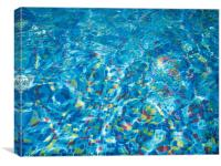 Pool view through the thickness of the water, Canvas Print