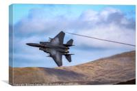 F15 Eagle in the Mach loop, Canvas Print