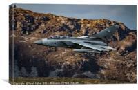 RAF Marham Tornado in the Mach loop, Canvas Print