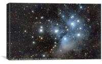 Famous Pleiades in Taurus contellation, Canvas Print