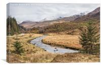 Glen Shiel roadside stream, Canvas Print