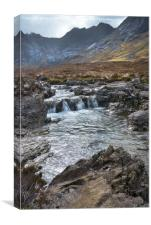 Fairy Pools western Isles, Canvas Print