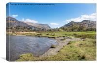 Welsh Lakes walking, Canvas Print