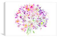 Colourful Peruvian Lilies, Canvas Print