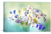 Spring flowers in a Vase, Canvas Print