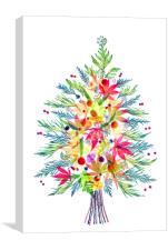 Christmas Festive Flora, Canvas Print