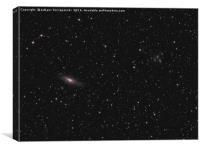 Deep space: galaxy NGC 7331, Stephan's Quintet, Canvas Print