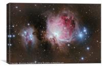 Deep space: Orion Nebula (Messier M42), Canvas Print