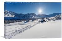 Winter mountain landscape - Tatry Mountains, Canvas Print