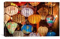 Colorful traditional Vietnam lanterns, Canvas Print