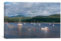 Boats at Barmouth., Canvas Print