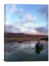 Barmouth sunset, Canvas Print