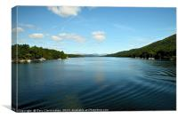 Windermere by boat, Canvas Print