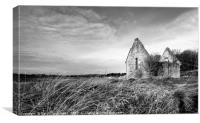 Chapel Ruins at Alnmouth, Canvas Print