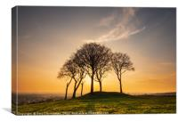 Evening Sun at Seven Sisters, Canvas Print
