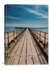 Blyth Pier, Canvas Print