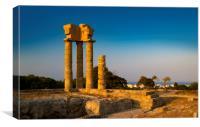 Acropolis at Monte Smith on Rhodes Greece, Canvas Print
