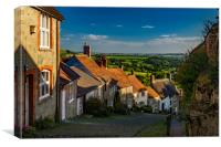 Gold Hill in the village of Shaftesbury, Dorset, Canvas Print