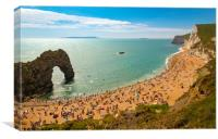 Dorset Coastline on a hot summer day, Canvas Print