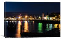Reflections at Cardiff Bay, Canvas Print