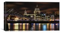 Millennium Bridge leading to St Paul's , Canvas Print