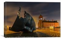 Merchant Seamen's Memorial, Cardiff Bay, Canvas Print