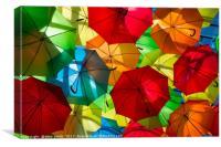 Under my Umbrella , Canvas Print