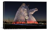 The Kelpies, Falkirk , Canvas Print