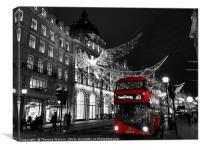 Regent Street Christmas Splash , Canvas Print