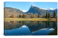 Beautiful French Alps, Canvas Print