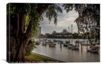 Brisbane Story Bridge through tree canopy, Canvas Print