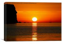 Menorcan sunset, Canvas Print