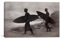 Bronte Dawn Surfers, Canvas Print
