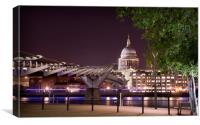 Millennium Bridge & St Paul's Cathedral, Canvas Print