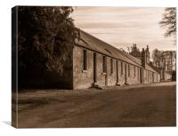 Workers' Cottages, Canvas Print