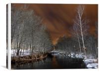 River at night, Canvas Print