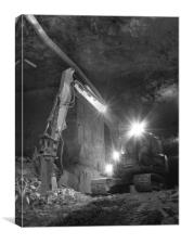 At work in the mines, Canvas Print