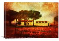 The Old Ranch House, Canvas Print