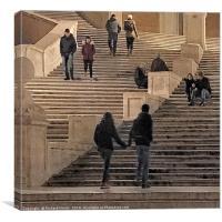 Spanish Steps, Canvas Print