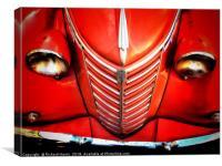 Classic red Fiat Van, Canvas Print