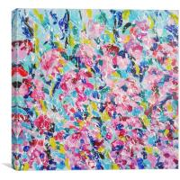Abstract floral pattern, Canvas Print