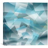 Geometrical blue pattern, Canvas Print