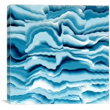 Abstract blue pattern, Canvas Print