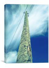 Pillar against the blue sky, Canvas Print