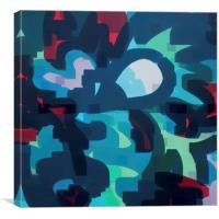 Abstract blue designe  , Canvas Print