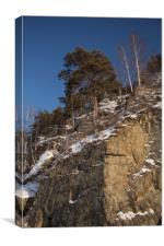 Winter rocks, Canvas Print