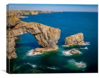 Green Bridge,  Stack Rocks, Pembrokeshire, Canvas Print