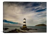 Penmon Lighthouse., Canvas Print