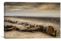The Shipwreck on Pendine Sands, Canvas Print