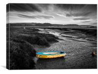 Boat on the Estuary at Laugharne, Canvas Print